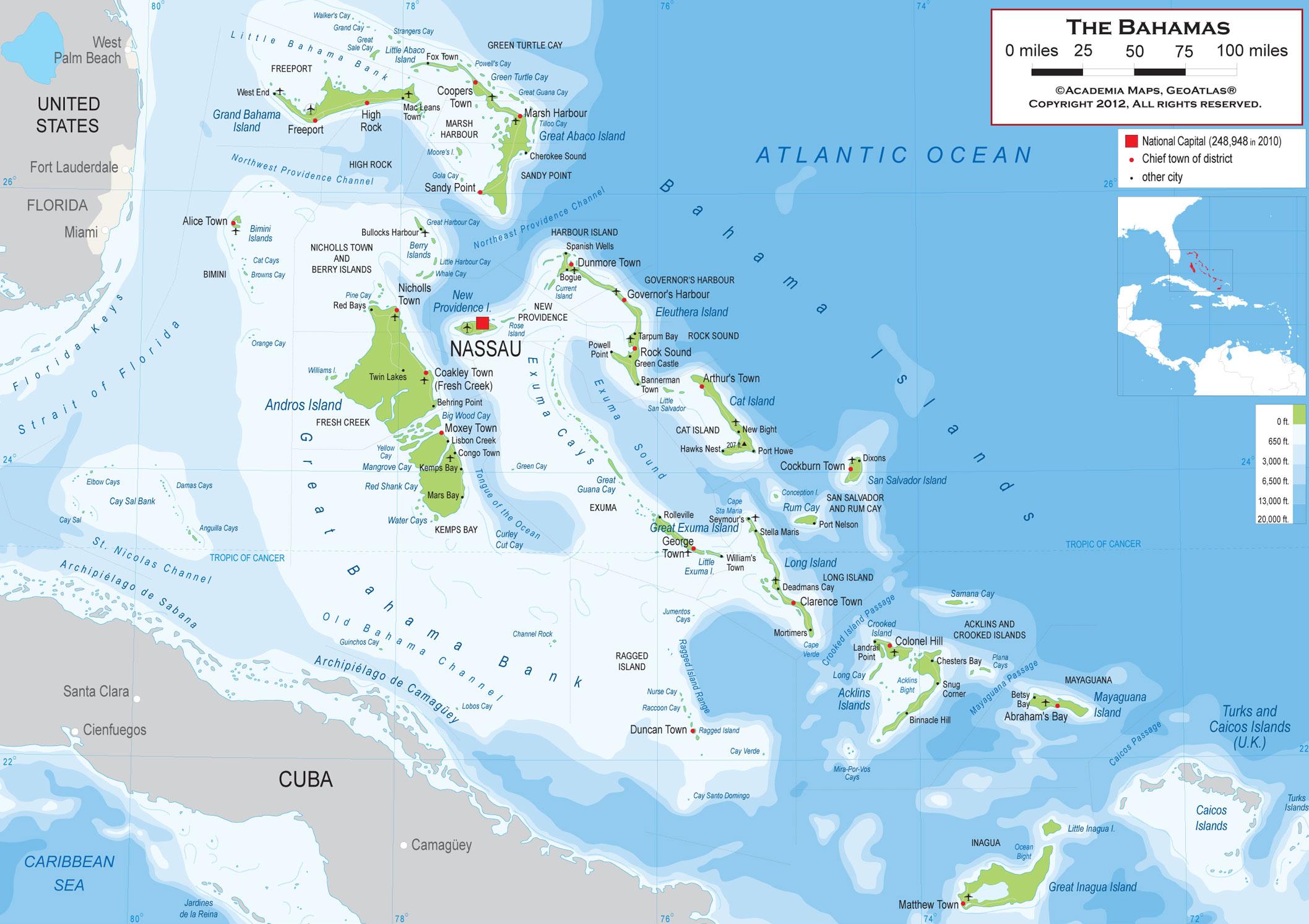 Bahamas Tours – Nassau Bahamas Tourist Map